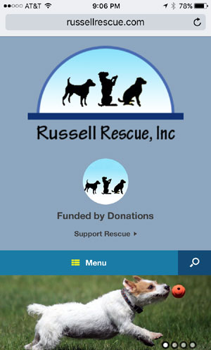 Russell Rescue Web Site Design